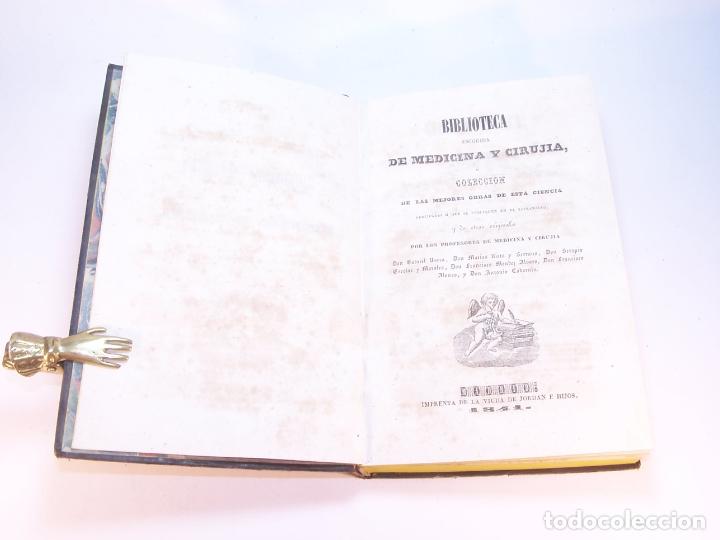 Libros antiguos: Biblioteca escogida de medicina y cirujía. Clínica médica ú observaciones selectas. G. Andral. 5 tom - Foto 2 - 178330910