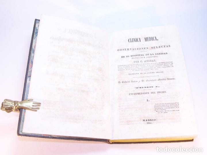 Libros antiguos: Biblioteca escogida de medicina y cirujía. Clínica médica ú observaciones selectas. G. Andral. 5 tom - Foto 4 - 178330910