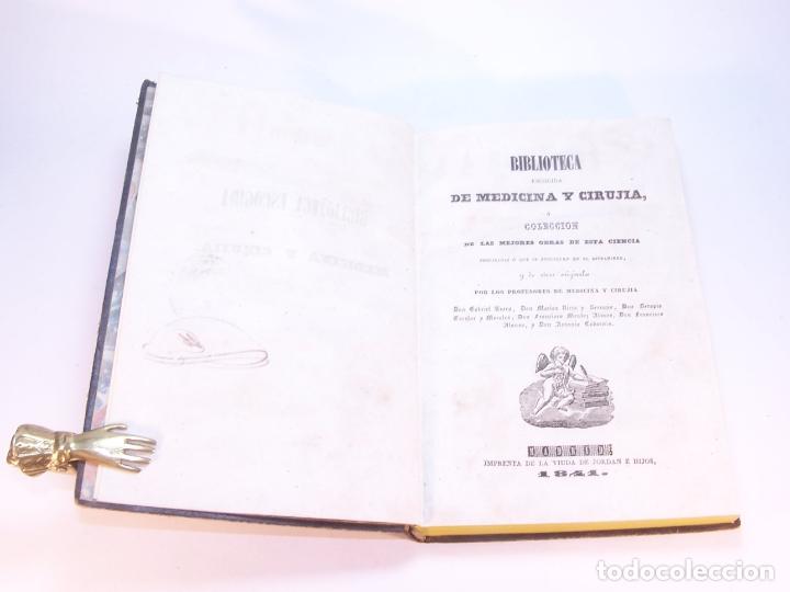 Libros antiguos: Biblioteca escogida de medicina y cirujía. Clínica médica ú observaciones selectas. G. Andral. 5 tom - Foto 10 - 178330910