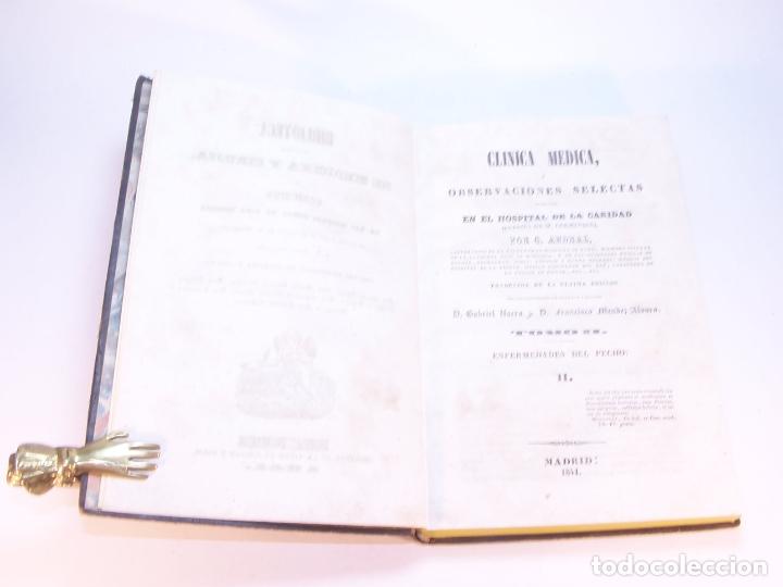 Libros antiguos: Biblioteca escogida de medicina y cirujía. Clínica médica ú observaciones selectas. G. Andral. 5 tom - Foto 11 - 178330910