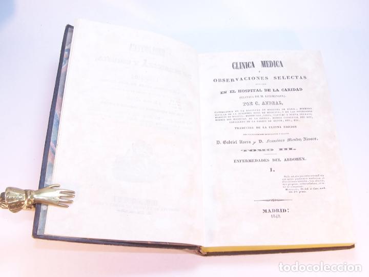 Libros antiguos: Biblioteca escogida de medicina y cirujía. Clínica médica ú observaciones selectas. G. Andral. 5 tom - Foto 18 - 178330910
