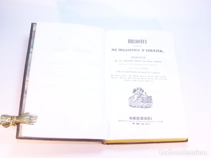 Libros antiguos: Biblioteca escogida de medicina y cirujía. Clínica médica ú observaciones selectas. G. Andral. 5 tom - Foto 24 - 178330910