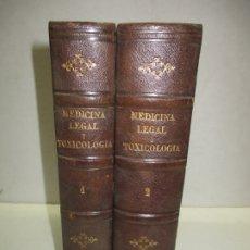 Libros antiguos: MANUAL COMPLETO DE MEDICINA LEGAL Y TOXICOLOGÍA - BRIAND, J., BOUIS, J. Y CASPER, J. L. 1872-73.. Lote 123167746
