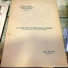 Libros antiguos: SEVILLA, 1923, LA LUCHA CONTRA LA TUBERCULOSIS EN SEVILLA,75 PAGINAS. Lote 178964803