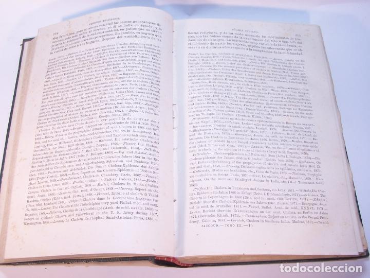 Libros antiguos: Tratado de patología interna. S. Jaccoud. D. Joaquín Gassó. 3 tomos. Carlos Bailly-Bailliere. 1881. - Foto 16 - 178986296