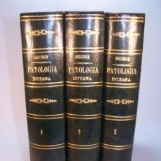 Libros antiguos: TRATADO DE PATOLOGÍA INTERNA. S. JACCOUD. D. JOAQUÍN GASSÓ. 3 TOMOS. CARLOS BAILLY-BAILLIERE. 1881.. Lote 178986296