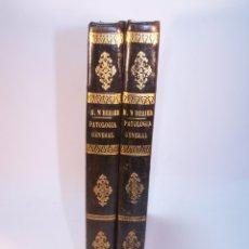 Libros antiguos: TRATADO ELEMENTAL DE PATOLOGÍA GENERAL Y SEMEYOLOGÍA. A. HARDY Y J. BEHIER. 2 TOMOS. MADRID. 1846.. Lote 179031797