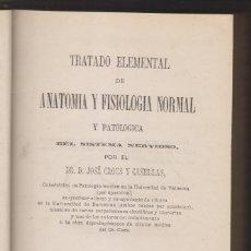 Libros antiguos: JOSÉ CROUS Y CASELLAS: TRATADO ELEMENTAL DE ANATOMÍA Y FISIOLOGÍA DEL SISTEMA NERVIOSO. 1878. Lote 179109031