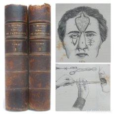 Libros antiguos: 1876 - CIRUGÍA - 2 TOMOS DE MEDICINA ILUSTRADOS CON 194 GRABADOS - OBRA COMPLETA - ENFERMEDADES. Lote 179327748
