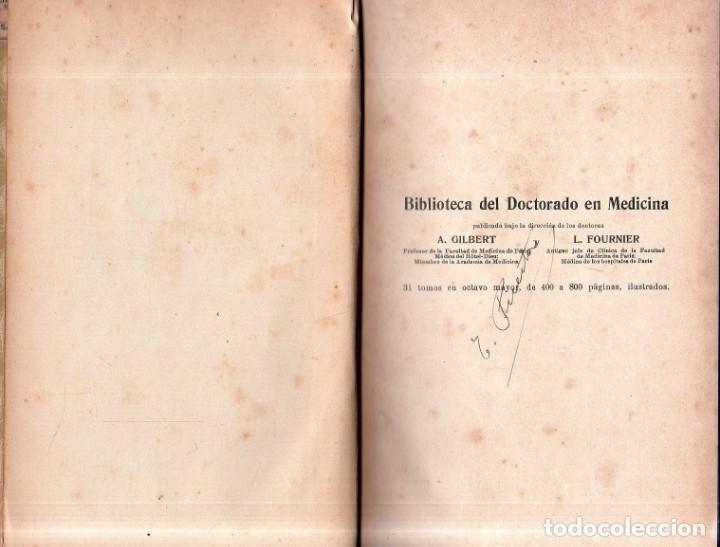 Libros antiguos: MANUAL DE ANATOMIA PATOLOGICA. A. GILBERT Y L. FOURNIER. EDITORIAL P. SALVAT. 1918. - Foto 2 - 179397587