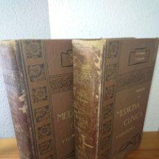 Libri antichi: TRATADO DE MEDICINA CLÍNICA Y TERAPÉUTICA, W. EBSTEIN, EN DOS TOMOS I Y II. Lote 179399786