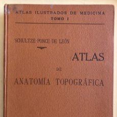Libros antiguos: ANATOMIA- ATLAS ANATOMIA TOPOGRAFICA- DR. OSCAR SCHULTZE- MADRID 1.905 70 LAMINAS. Lote 179405060