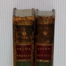 Libros antiguos: PROSPECTO DE MEDICINA SENCILLA Y HUMANA O NUEVA DOCTRINA DE BROWN; OBRA ORIGINAL 2 TOMOS. AÑO 1798. Lote 179534490