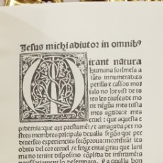 Libros antiguos: REGIMEN PRESERVATIU E CURATI DE LA PESTILENCIA.. Lote 180022696
