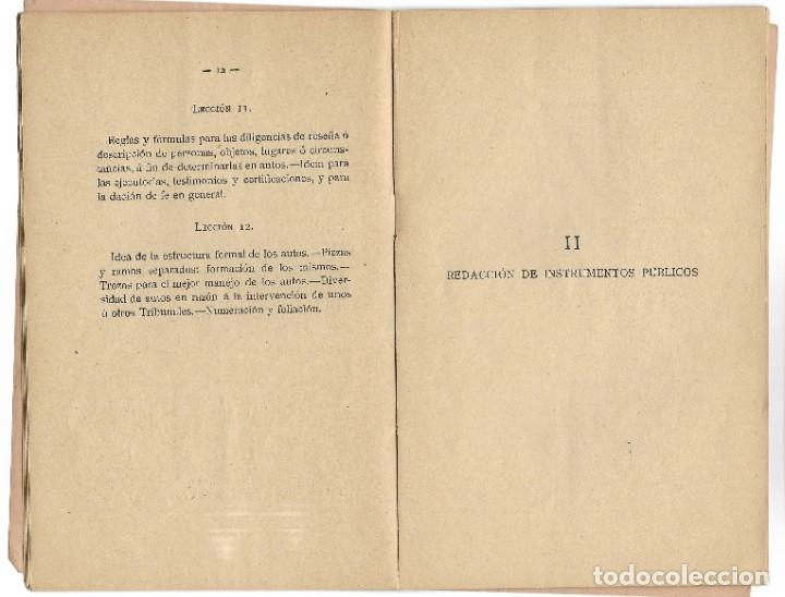 Libros antiguos: PROGRAMA PARA UN CURSO DE PRÁCTICA FORENSE - TOMÁS MONTEJO Y RICA - UNIVERSIDAD CENTRAL, MADRID 1918 - Foto 5 - 180111252