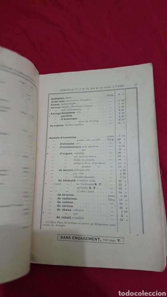 Libros antiguos: Magnifico antiguo libro de productos farmacia 1904 con láminas en Frances - Foto 7 - 180287415