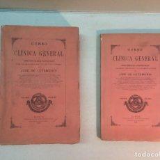 Libros antiguos: JOSÉ DE LETAMENDI. CURSO DE CLÍNICA GENERAL (VOLUMEN PRIMERO Y SEGUNDO) (1894). Lote 180986520