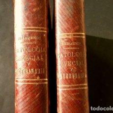 Libros antiguos: ANTIGUO TRATADO DE VETERINARIA (AÑO 1887) PATOLOGIA ESPECIAL Y TERAPEUTICA - ISASMENDI - 2ª EDICION. Lote 182130881