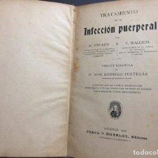 Libros antiguos: TRATAMIENTO DE LA INFECCIÓN PUERPERAL. Lote 182633808
