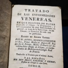 Libros antiguos: TRATADO DE LAS ENFERMEDADES VENEREAS 1772 ENCUADERNADO EN PIEL, POR MR. ESTRUC TOMO II. Lote 183179020