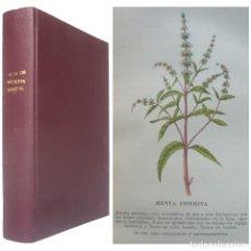 Libros antiguos: 1937 - ANTIGUO MANUAL DE MEDICINA VEGETAL - FITOTERAPIA, PLANTAS MEDICINALES - ILUSTRADO, LÁMINAS. Lote 183202872