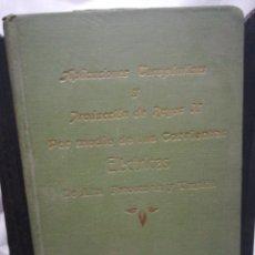 Libros antiguos: APLICACIONES TERAPÉUTICAS Y PRODUCCIÓN DE RAYOS X C. RUIZ IBARRA. Lote 183372177