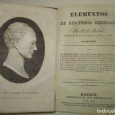 Libros antiguos: ELEMENTOS DE ANATOMIA GENERAL. - BÉCLARD, P. A. 1832.. Lote 123162980