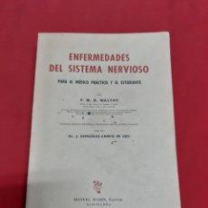 Libros antiguos: ANTIGUO LIBRO ENFERMEDADES DEL SISTEMA NERVIOSO POR EL DR GONZÁLEZ CAMPO DE COS AÑO 1948. Lote 184126763