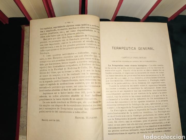 Libros antiguos: Terapéutica general. Márquez Manuel 1920 - Foto 5 - 184427503