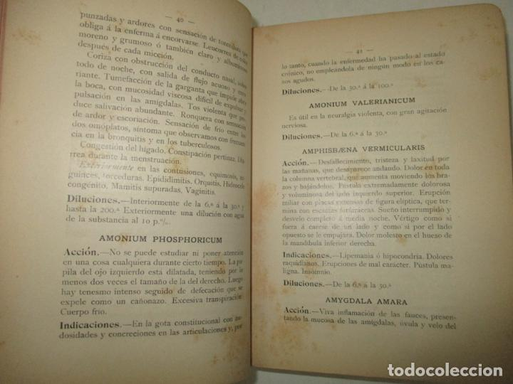 Libros antiguos: JOYA HOMEOPÁTICA. MANUAL DE TERAPÉUTICA HOMEOPÁTICA. - COMET y PINART. 1904. - Foto 4 - 123177235