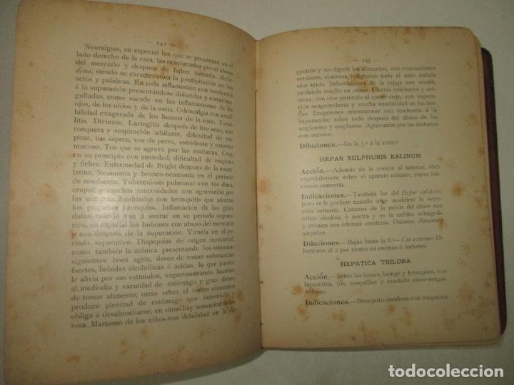 Libros antiguos: JOYA HOMEOPÁTICA. MANUAL DE TERAPÉUTICA HOMEOPÁTICA. - COMET y PINART. 1904. - Foto 6 - 123177235