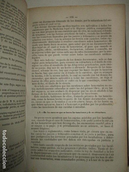 Libros antiguos: TRATADO DE MEDICINA Y CIRUGÍA LEGAL TEORICA Y PRACTICA..MATA, Pedro. 1874. - Foto 3 - 123215966
