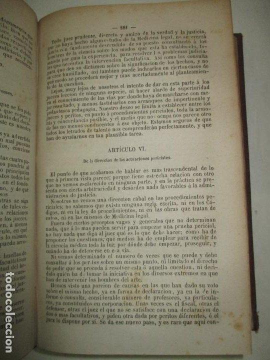 Libros antiguos: TRATADO DE MEDICINA Y CIRUGÍA LEGAL TEORICA Y PRACTICA..MATA, Pedro. 1874. - Foto 4 - 123215966