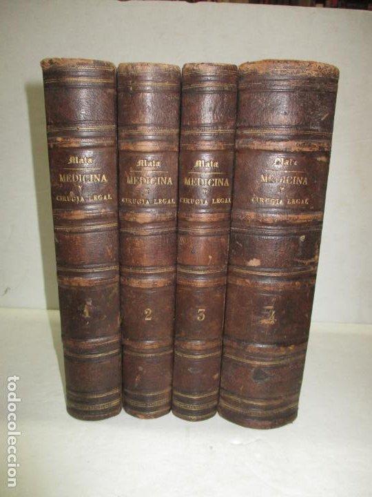 TRATADO DE MEDICINA Y CIRUGÍA LEGAL TEORICA Y PRACTICA..MATA, PEDRO. 1874. (Libros Antiguos, Raros y Curiosos - Ciencias, Manuales y Oficios - Medicina, Farmacia y Salud)