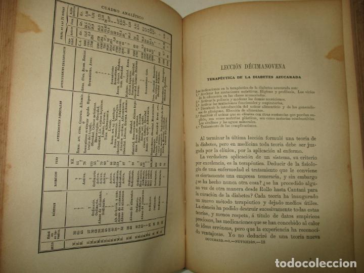 Libros antiguos: LECCIONES SOBRE LAS ENFERMEDADES POR RETARDO DE LA NUTRICIÓN..BOUCHARD, Ch. 1891. - Foto 3 - 123167004