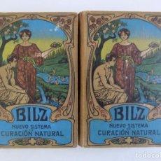 Libros antiguos: LIBRERIA GHOTICA. BILZ. NUEVO SISTEMA DE CURACIÓN NATURAL. 2 TOMOS EN FOLIO.1900.GRABADOS.. Lote 184881492