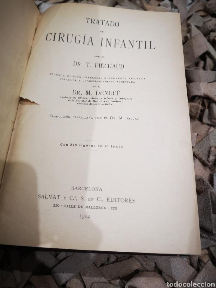 Libros antiguos: Tratado de cirugía infantil con 219 figuras en el texto año 1914. Piechaud - Foto 2 - 185740340