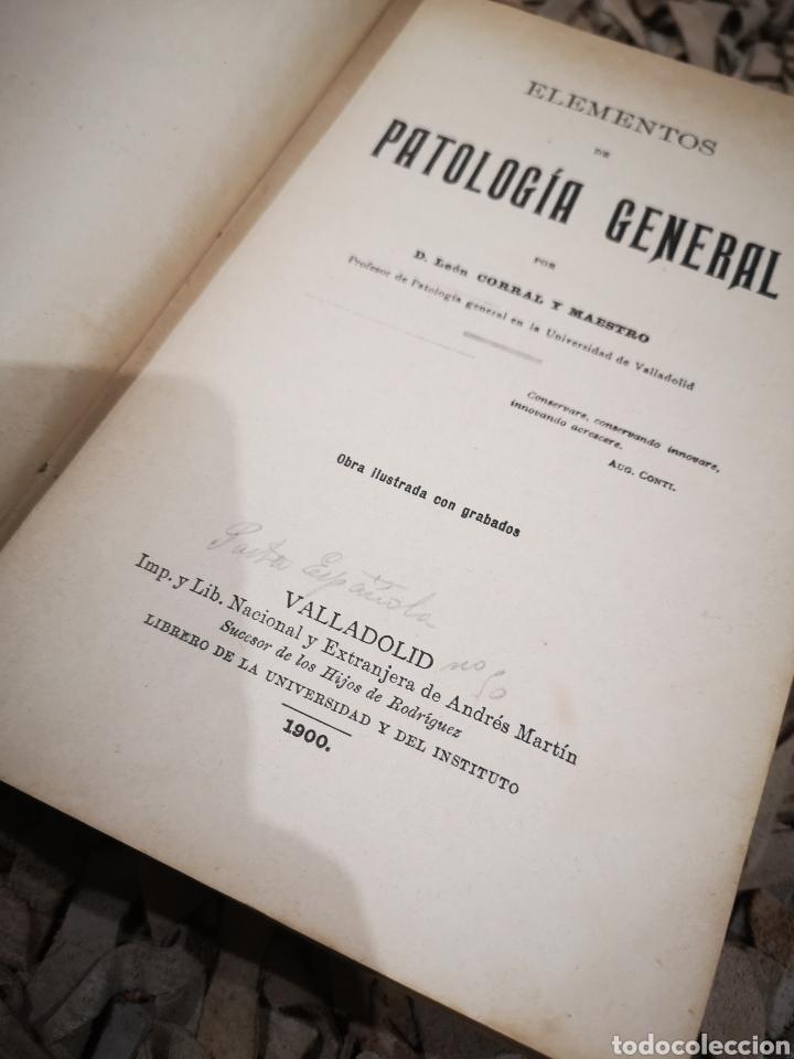 Libros antiguos: Elementos de Patología General por León corral y maestro año 1900 primera edición - Foto 2 - 185741650