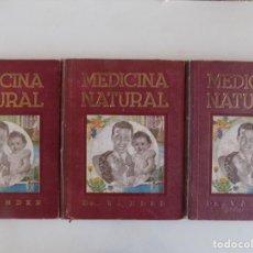 Libros antiguos: LIBRERIA GHOTICA. DR. VANDER. MEDICINA NATURAL.OBRA COMPLETA EN 3 TOMOS EN FOLIO. MUY ILUSTRADO.. Lote 186455050