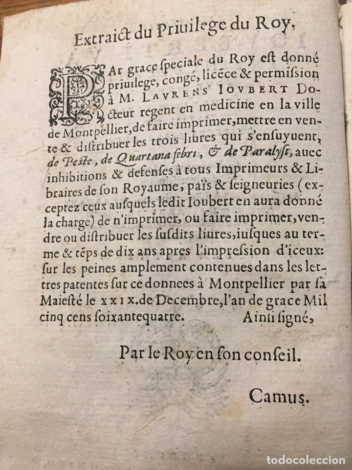 de peste liber vnus. laurent joubert (1567) - Comprar Libros ...