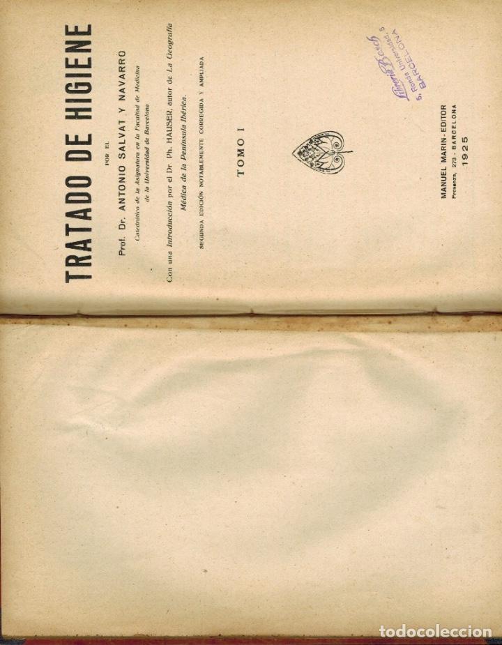 Libros antiguos: TRATADO DE HIGIENE - Foto 2 - 187302238