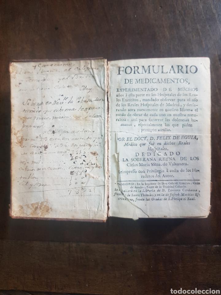 Libros antiguos: Magnífico y único ejemplar a la venta Formulario de medicamentos. Doctor D. Felix de Eguia. Año 1759 - Foto 3 - 188541398