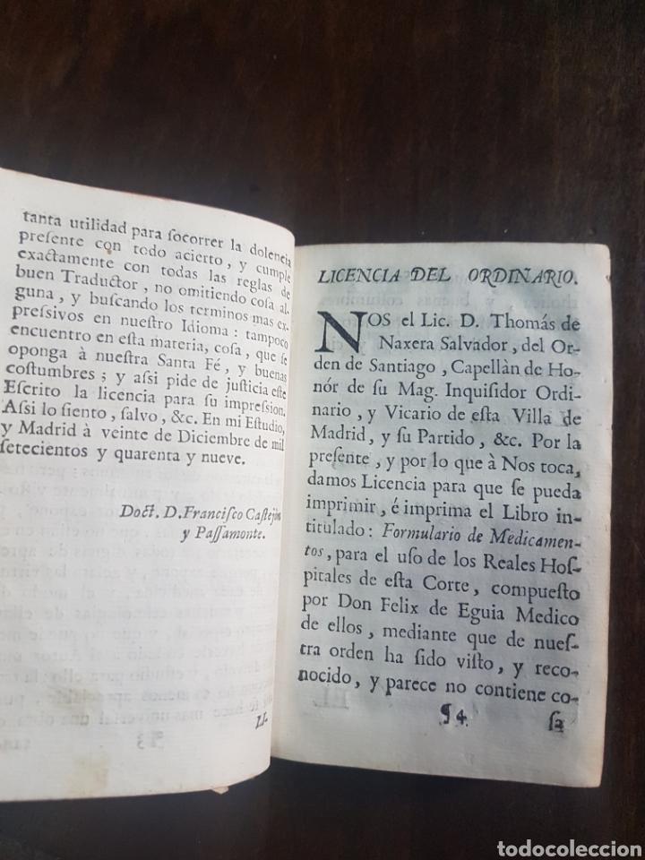 Libros antiguos: Magnífico y único ejemplar a la venta Formulario de medicamentos. Doctor D. Felix de Eguia. Año 1759 - Foto 6 - 188541398