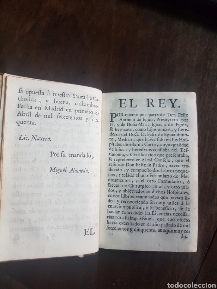 Libros antiguos: Magnífico y único ejemplar a la venta Formulario de medicamentos. Doctor D. Felix de Eguia. Año 1759 - Foto 7 - 188541398
