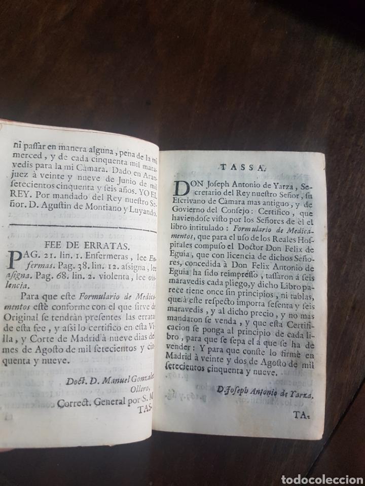 Libros antiguos: Magnífico y único ejemplar a la venta Formulario de medicamentos. Doctor D. Felix de Eguia. Año 1759 - Foto 8 - 188541398