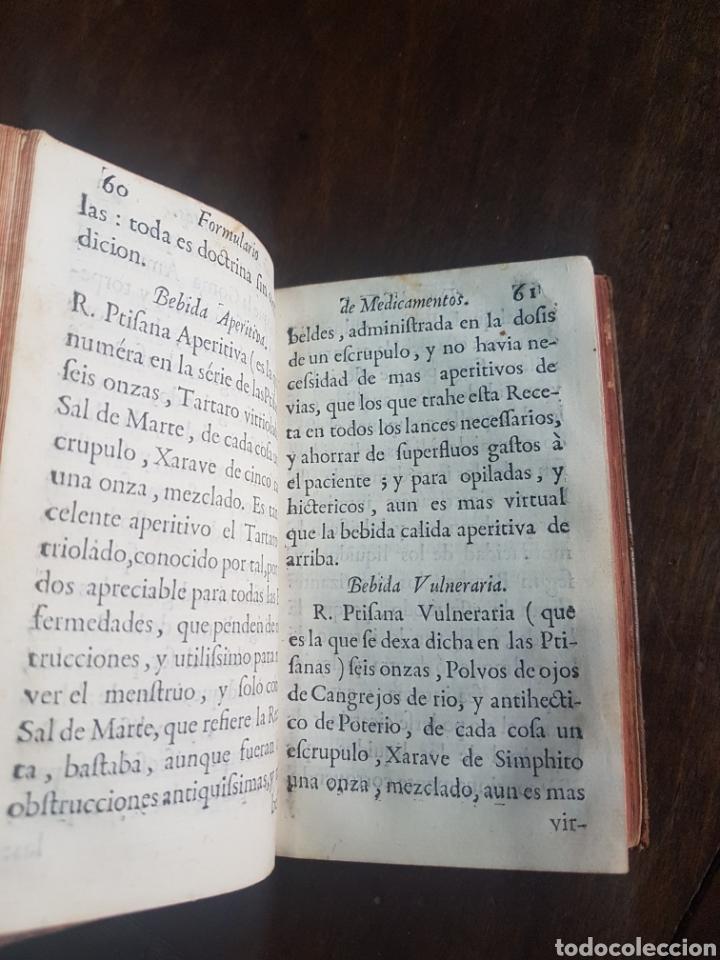 Libros antiguos: Magnífico y único ejemplar a la venta Formulario de medicamentos. Doctor D. Felix de Eguia. Año 1759 - Foto 11 - 188541398