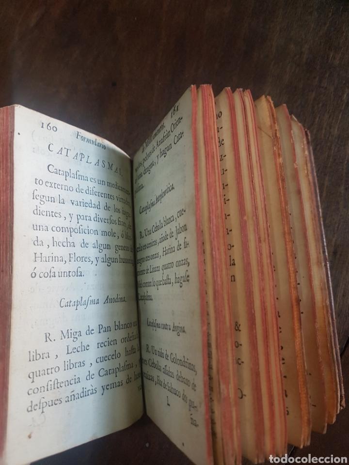 Libros antiguos: Magnífico y único ejemplar a la venta Formulario de medicamentos. Doctor D. Felix de Eguia. Año 1759 - Foto 12 - 188541398
