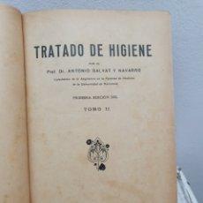 Libros antiguos: TRATADO DE HIGIENE. 1.925. DOS VOLUMENES. Lote 188561253