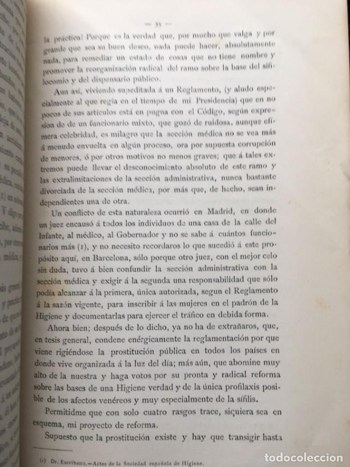 Libros antiguos: 1886 - DE LA PROSTITUCIÓN - REGLAMENTACIÓN Y DE LA PROFILAXIS SÍFILIS - ENRIQUE GELABERT CABALLERÍA - Foto 3 - 188678525