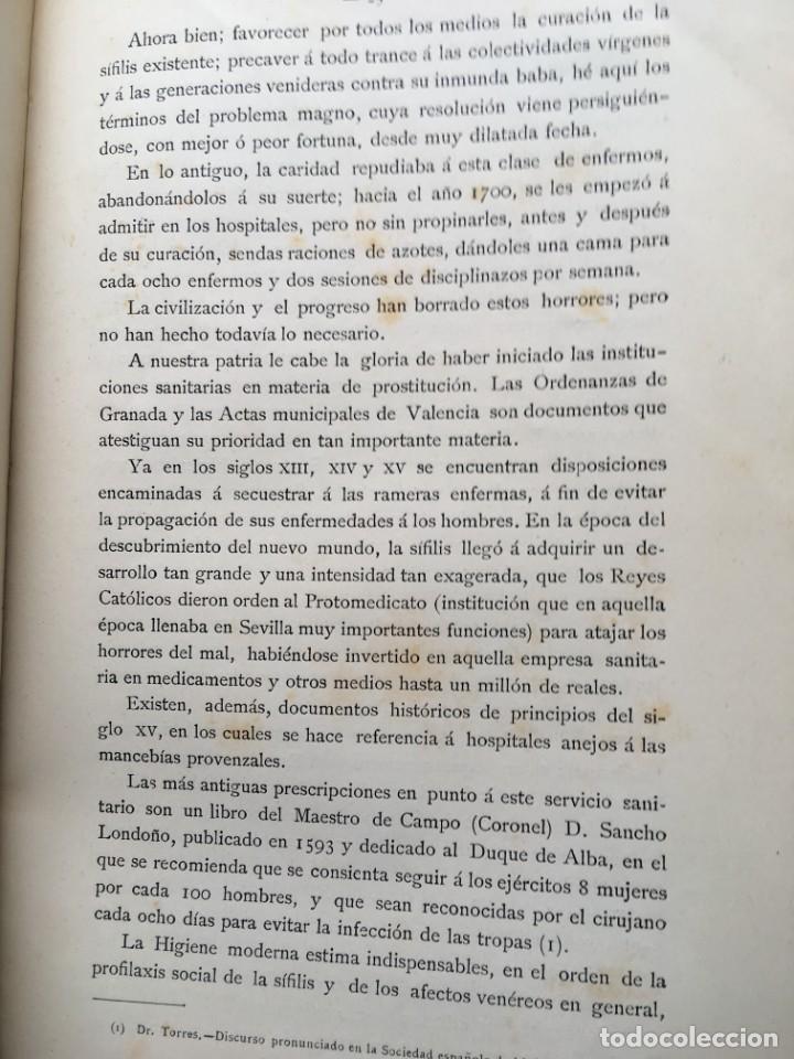 Libros antiguos: 1886 - DE LA PROSTITUCIÓN - REGLAMENTACIÓN Y DE LA PROFILAXIS SÍFILIS - ENRIQUE GELABERT CABALLERÍA - Foto 4 - 188678525